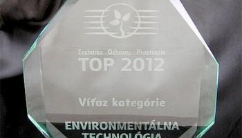 Cena TOP 2012 Technika ochrany prostredia v kategórii Environmentálna technológia