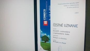 Cena CONECO 2013 čestné uznanie