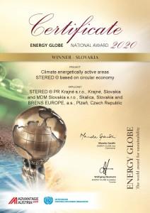 Certifikate ENERGY GLOBE Winner Slovakia 2020-page-001